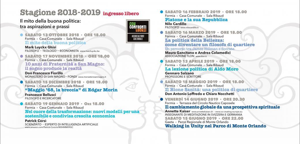 Calendario Confronti 2018-2019
