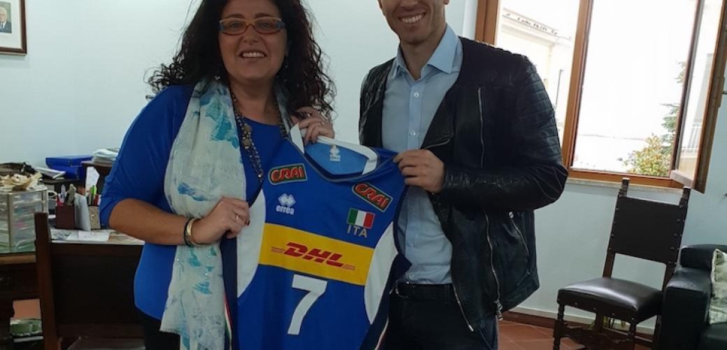 Salvatore Rossini e il sindaco Paola Villa