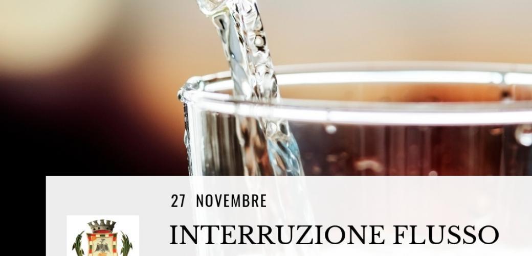 Interruzione flusso idrico 27 novembre, zona San Giulio e San Pietro