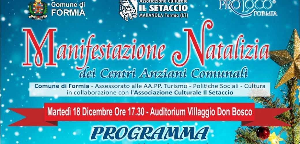 Programma Natale Centro anziani Formia