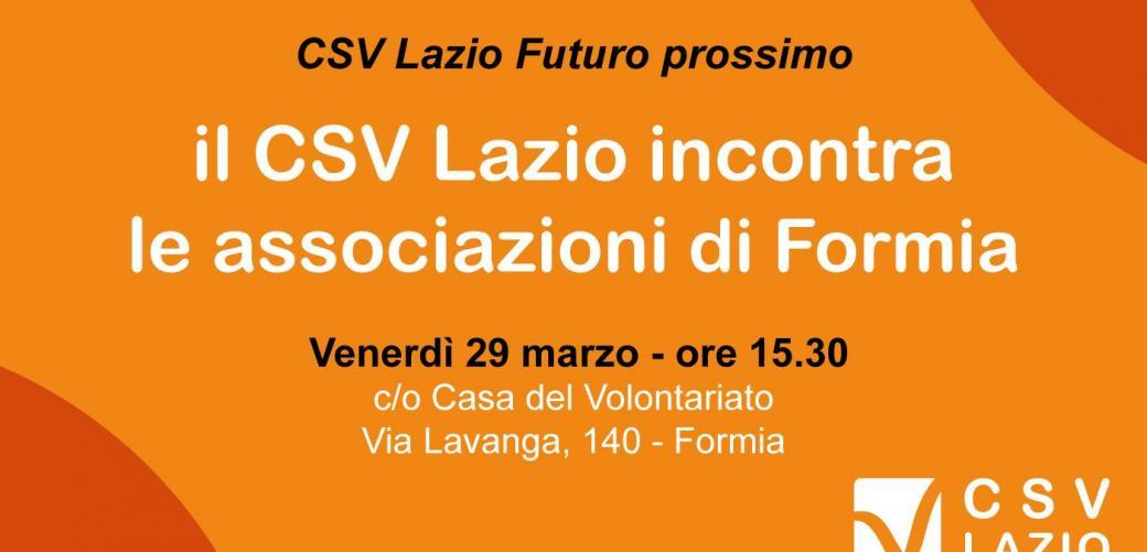 CSV Lazio incontra le associazioni di Formia
