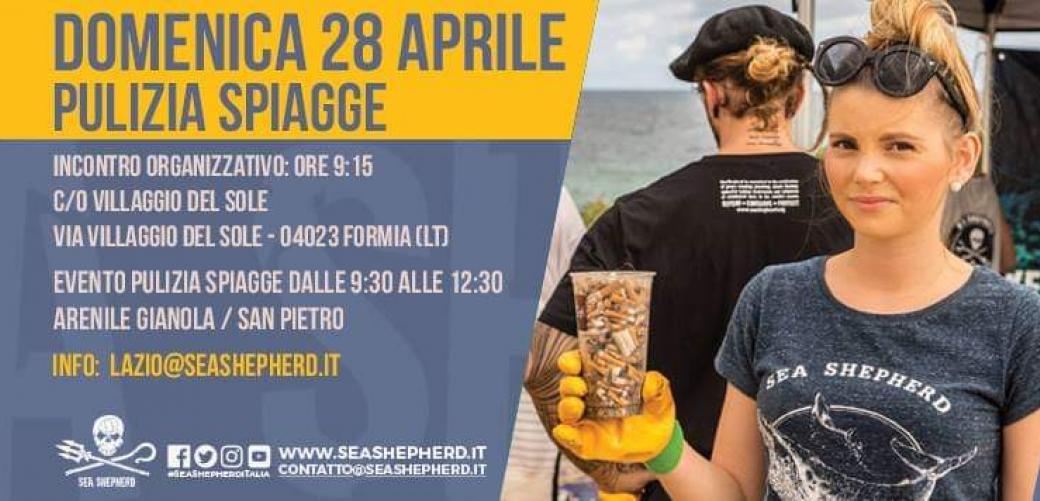 Sea Shepherd - pulizia spiaggie a Formia