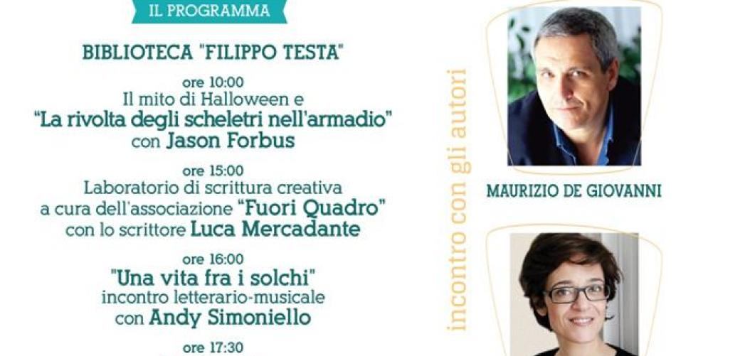 Seconda edizione del Library Day: ospiti d'eccezione lo scrittore Maurizio De Giovanni e la filosofa e saggista Michela Marzano