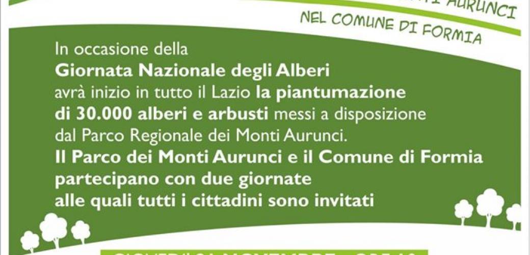 Giornata Nazionale degli Alberi, doppio appuntamento a Formia