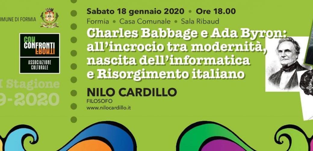 Quarto appuntamento della settima stagione di Confronti: Charles Babbage e Ada Byron: all'incrocio tra modernità, nascita dell'informatica e Risorgimento italiano