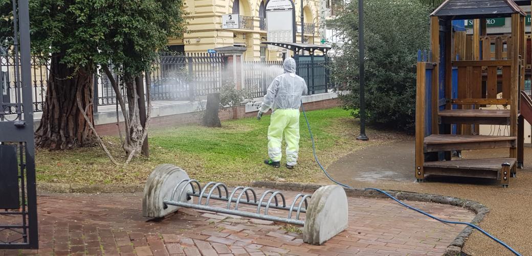 AGGIORNAMENTO CORONAVIRUS: continua la sanificazione su tutto il territorio cittadinodino