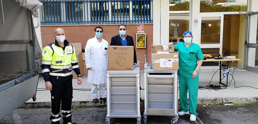 Raccolta fondi Dono Svizzero Formia, nuova consegna