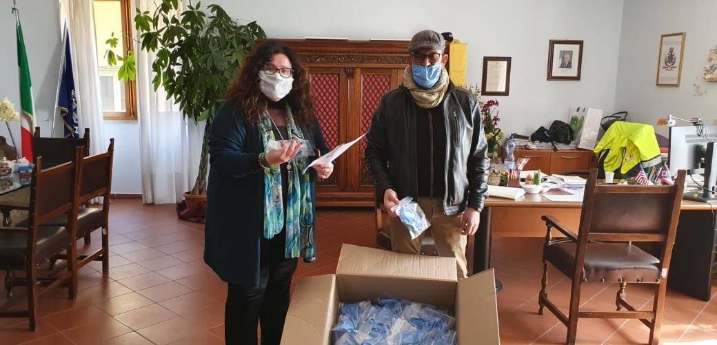 Cinquecento mascherine consegnate in due giorni nel Comune di Formia