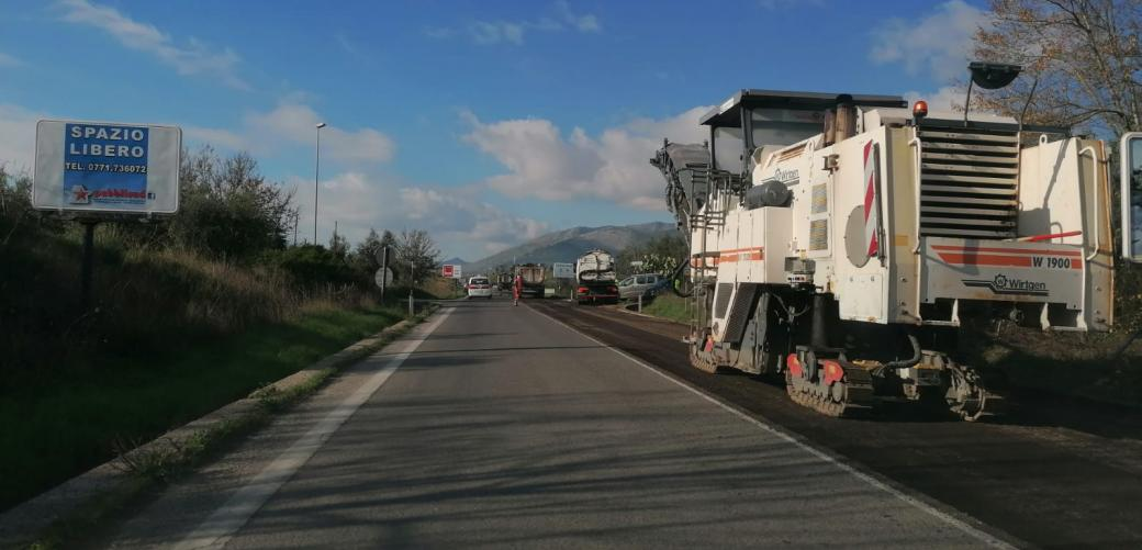 Iniziati i lavori della pavimentazione sulla variante S.S 7 Appia Formia Garigliano