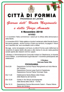 Città di Formia - 4 novembre