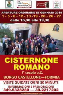 Cisternone romano di Formia - aperture gennaio 2019